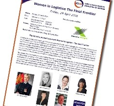 Women in Logistics The Final Frontier – 29 April 2016